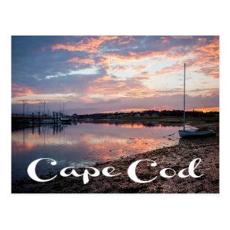 Nascer do sol de Cape Cod, Wellfleet, cartão das