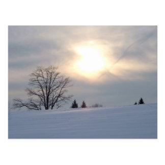 nascer do sol do inverno cartão postal