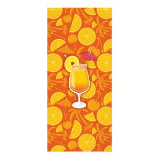 Nascer do sol do Tequila 10.16 X 22.86cm Panfleto