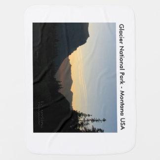 Nascer do sol geral do parque nacional de geleira cobertores de bebe
