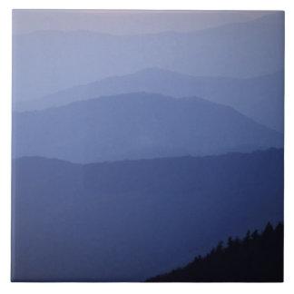 Nascer do sol, montanhas apalaches do sul, excelen azulejo quadrado grande