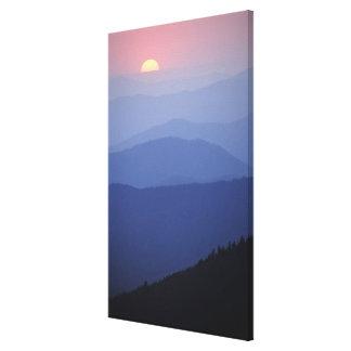 Nascer do sol, montanhas apalaches do sul, excelen impressão em tela