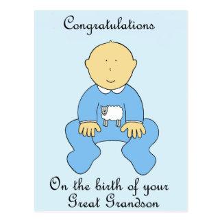 Nascimento do excelente - neto, felicitações cartão postal