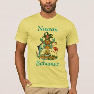 Nassau, Bahamas com brasão Camiseta