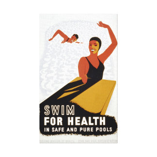 Natação do vintage para o exercício da saúde