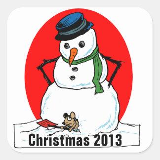 Natal 2013 etiquetas adesivos quadrados