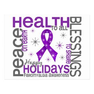 Natal 4 flocos de neve da fibromialgia cartoes postais