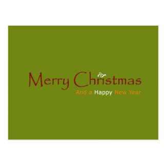 Natal alegre cartão postal