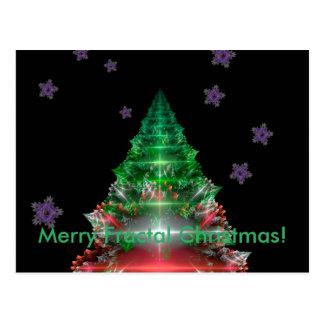 Natal alegre do Fractal! Cartão Postal