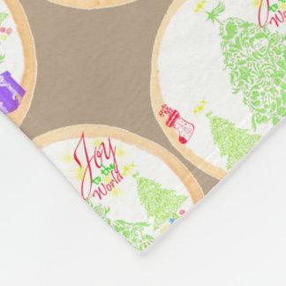 """Natal """"alegria biscoito ao mundo"""" cobertor de lã"""