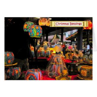 Natal alemão, carenagens festivas cartão