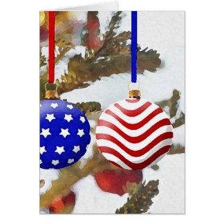 Natal americano cartão comemorativo