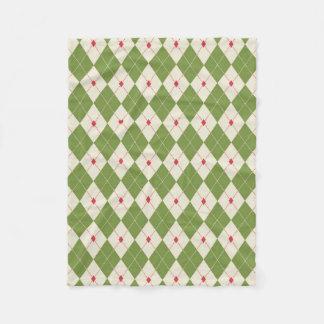 Natal animador Argyle (um coração) Cobertor De Lã