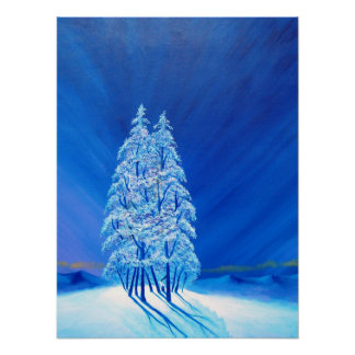 Natal azul # 2 pôster