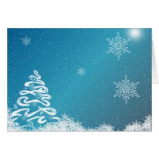 Natal azul cartão comemorativo