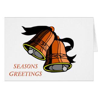 Natal Bels festivo Cartão Comemorativo