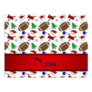 Natal branco conhecido personalizado do futebol cartões postais