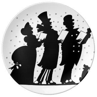Natal Caroling Pratos De Porcelana