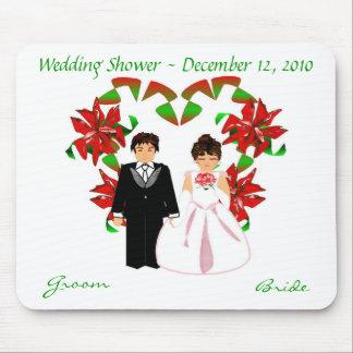 Natal/chá de casamento de dezembro mim Mousepad