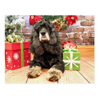 Natal - cocker spaniel - Marley Cartão Postal