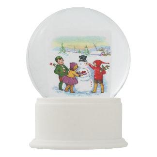Natal-Crianças do vintage, boneco de neve
