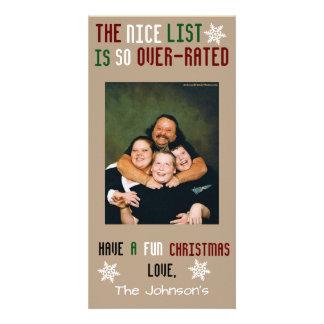 Natal customizável engraçado cartão com foto