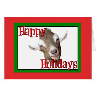 Natal de Miúdo-Cabra-Feriado de Togg Cartão Comemorativo