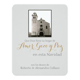 Natal de Puerto Rico: Igreja Católica Convite 10.79 X 13.97cm