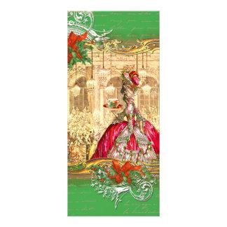 Natal de Versalhes do tea party de Marie Antoinett 10.16 X 22.86cm Panfleto
