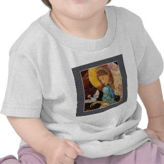 Natal do anjo & da pomba do renascimento tshirts