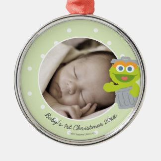 Natal do bebê de Oscar | o primeiro - adicione seu Ornamento De Metal
