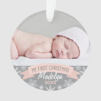 Natal do bebé do ornamento | da foto primeiro