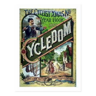 Natal do catálogo do vintage 1886 de Cycledom Cartão Postal