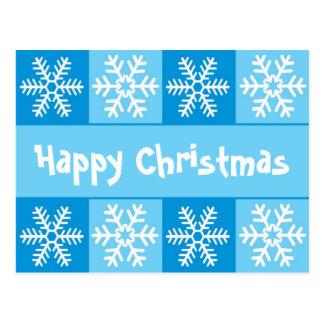 Natal do floco de neve cartões postais