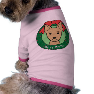 Natal do Pinscher diminuto Camisa Para Cães