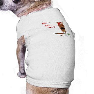 Natal do Pinscher diminuto Camisa Sem Mangas Para Cachorro