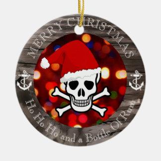 Natal do pirata ornamento de cerâmica
