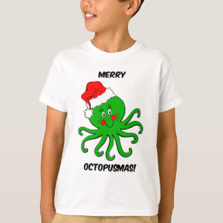 Natal do polvo camiseta