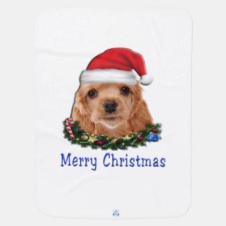 Natal do puppie de cocker spaniel cobertor para bebe