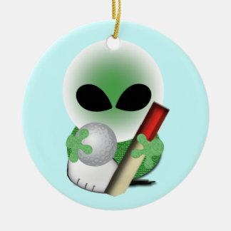Natal dos esportes ornamento de cerâmica redondo
