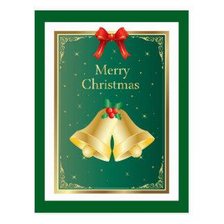 Natal elegante simples cartão postal