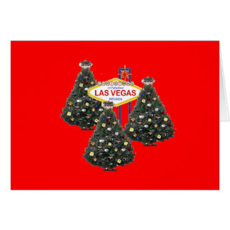 Natal em árvores de Las Vegas & no cartão fabuloso