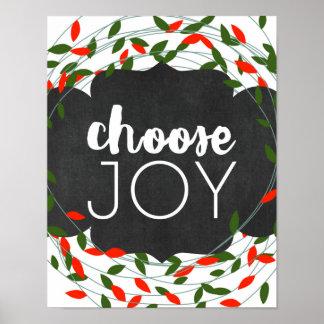 Natal - escolha a alegria - luzes - poster pôster