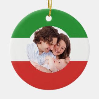 Natal feito sob encomenda da foto da família ornamento de cerâmica
