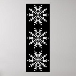 Natal feliz - cristal de gelo - floco da neve pôster