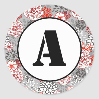 Natal floral - etiqueta do círculo
