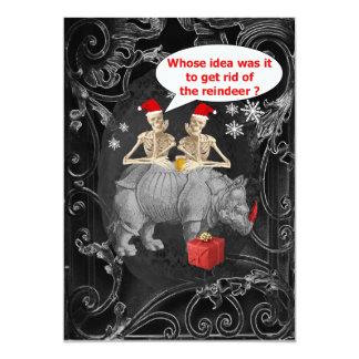 Natal gótico engraçado alternativo convite personalizado