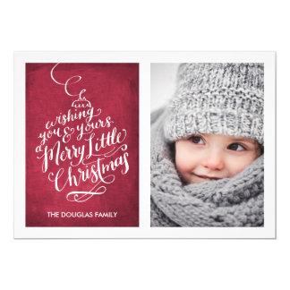 Natal indicado por letras do ornamento | da convite 12.7 x 17.78cm