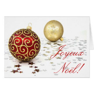 Natal Joyeux Noel Cartao