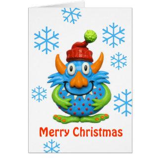 Natal manchado doce do monstro cartão comemorativo